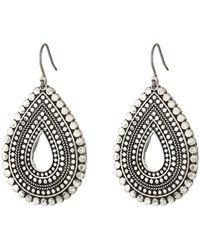 Lucky Brand - Blue Moon Tear Drop Earrings (silver) Earring - Lyst