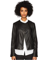 Vince - Leather Cross Front Jacket - Lyst