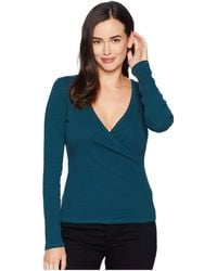 Lilla P - Long Sleeve Faux Wrap (stream) Women's Clothing - Lyst