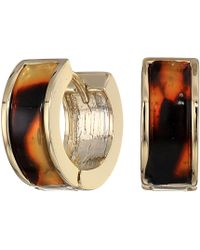 Lauren by Ralph Lauren - Tortoise Huggie Earrings (gold) Earring - Lyst