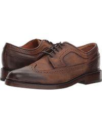 Frye - Jones Wingtip (caramel Tumbled Veg Tan) Men's Lace Up Wing Tip Shoes - Lyst