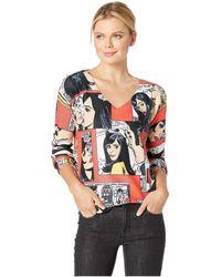 Nally & Millie - Cartoon Print Top (multi) Women's Clothing - Lyst