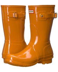 HUNTER - Orignal Short Gloss Rain Boots - Lyst