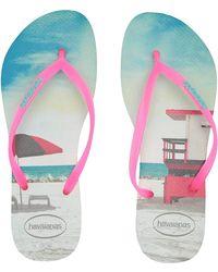 dedf7656954e9 Havaianas - Slim Paisage Flip Flops (pollen Yellow) Women s Sandals - Lyst