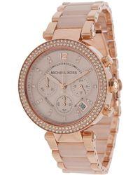 Michael Kors - Mk5896 - Parker (rose Gold/blush Acetate) Chronograph Watches - Lyst