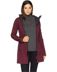 Ilse Jacobsen - 3/4 Length Two-tone Coat (Eggplant/Dark Indigo) Women's Coat - Lyst