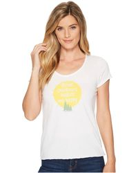 Life Is Good. - Outdoors Makes Me Happy Smooth Scoop Tee (cloud White) Women's T Shirt - Lyst
