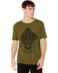 af3e5f2fb Lucky Brand - Tequila Skull Graphic Tee (burnt Olive) Men's Short Sleeve  Pullover -