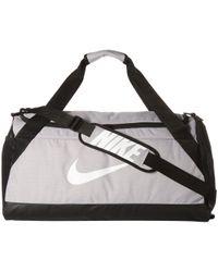 Nike - Brasilia Medium Duffel Bag (flint Grey/black/white) Duffel Bags - Lyst