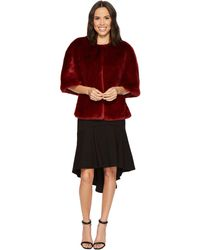Adrianna Papell - Faux Fur Wrap - Lyst