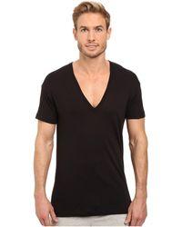 2xist - 2(x)ist Pima Slim Fit Deep V-neck T-shirt (black) Men's T Shirt - Lyst