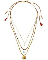 Chan Luu - Multi Layered Coin Necklace (multi Mix) Necklace - Lyst