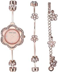 Anne Klein - Ak-3182rgst (rose Gold-tone) Watches - Lyst