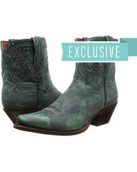 Dan Post - Flat Iron Studs (purple Vintage) Cowboy Boots - Lyst