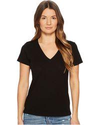 Vince - Essential V-neck Top (black) Women's T Shirt - Lyst