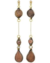 Vanessa Mooney - The Aaliyah Drop Earrings (gold) Earring - Lyst