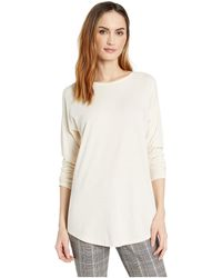 Lilla P - Long Sleeve Cut Out Back (champagne) Women's Clothing - Lyst