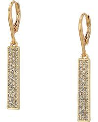 Lauren by Ralph Lauren - Micropave Linear Bar Earrings (gold) Earring - Lyst