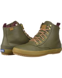 Keds - Scout Boot Splash Canvas Wax (olive) Women's Lace-up Boots - Lyst