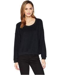 Three Dots - Uy2802 Sherpa Yarn Dye Drop Shoulder Sweatshirt - Lyst