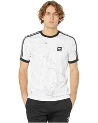 adidas Originals - Marble Aop Club Tee (white/dgh Solid Grey/black) Men's T Shirt - Lyst