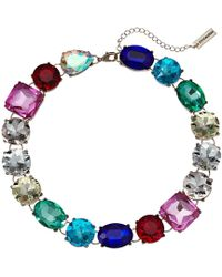 Steve Madden - Rainbow Jeweled Statement Necklace (multi/yellow Gold-tone) Necklace - Lyst