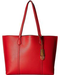 Tory Burch - Perry Triple-compartment Tote (brilliant Red) Tote Handbags -  Lyst 51f4a98947147