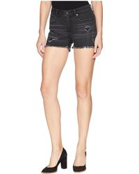 Miss Me - Distressed Mid-rise Shorts (grey) Women's Shorts - Lyst
