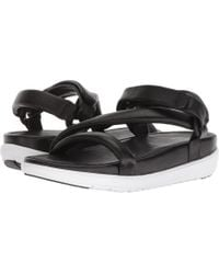 Fitflop - Loosh Luxetm Z-strap Leather Sandals (black Leather) Women's Sandals - Lyst