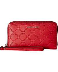 417b782ac9b0f4 MICHAEL Michael Kors - Mercer Large Flat Multifunction Phone Case (bright  Red 1) Cell