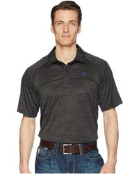 Ariat - Basic Charger Polo (charcoal) Men's Short Sleeve Pullover - Lyst