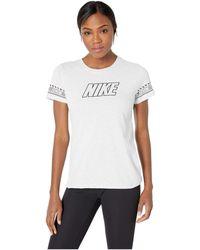 b45ff142d72 Nike - Dry Dri-fit Cotton Brand Slub Tee (black heather) Women s
