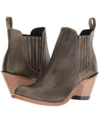 Old West Boots - Gored Ankle Boot (olive) Cowboy Boots - Lyst