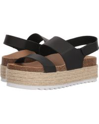 Dirty Laundry - Peyton Platform Sandal (black Smooth) Women's Wedge Shoes - Lyst
