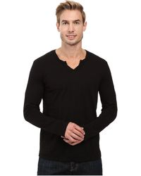 Mod-o-doc - Seacliff Long Sleeve Crew Thermal Crew (irongate) Men's Long Sleeve Pullover - Lyst
