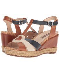 Pikolinos - Mojacar W7r-5802 (brandy) Women's Toe Open Shoes - Lyst