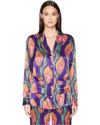 The Kooples - Hindu Flower Print Silk Shirt - Lyst