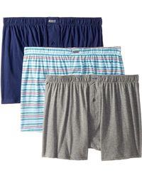 Kenneth Cole Reaction - 3-pack Knit Boxer (light Grey Heather/aqua Moustaches/white Skinny Stripes) Men's Underwear - Lyst