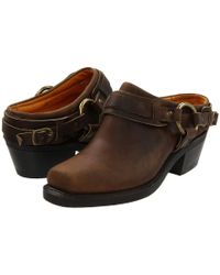 Frye - Belted Harness Mule (tan Crazy Horse Leather) Women's Boots - Lyst