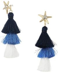 Lilly Pulitzer - Starbright Earrings (nautical Navy) Earring - Lyst