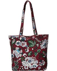 Vera Bradley - Iconic Tote Bag (water Bouquet) Tote Handbags - Lyst
