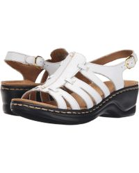 55a06d947d9 Clarks - Lexi Marigold Q (black Leather) Women s Sandals - Lyst