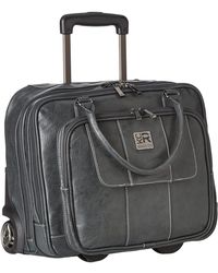 Kenneth Cole Reaction - Pebbeled Vinyl Double Gusset Top-zip Wheeled Computer Case (black) Computer Bags - Lyst