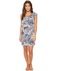 Tommy Bahama - Paisley Paradise Off-the-shoulder Swim Dress Cover-up - Lyst