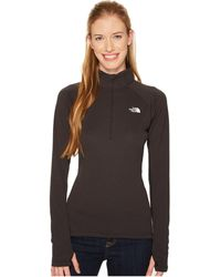The North Face - Ambition 1/4 Zip (tnf Black Heather) Women's Long Sleeve Pullover - Lyst