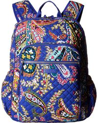 Vera Bradley - Iconic Campus Backpack (charcoal) Backpack Bags - Lyst f3609ca005b7d