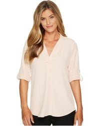 CALVIN KLEIN 205W39NYC - Roll Sleeve With Inverted Pleat - Lyst