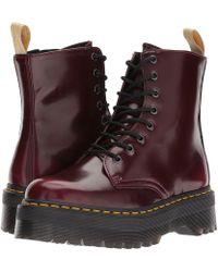 Dr. Martens - Vegan Jadon Ii 8-eye Boot (cherry Red Cambridge Brush) Women's Boots - Lyst