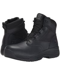 Timberland - 6 Valortm Duty Soft Toe Side-zip (black) Men's Work Lace-up Boots - Lyst