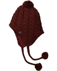 The North Face - Fuzzy Earflap Beanie (fig/faded Rose) Beanies - Lyst